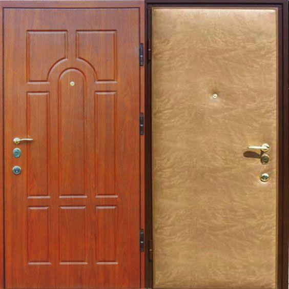 железная дверь отделки