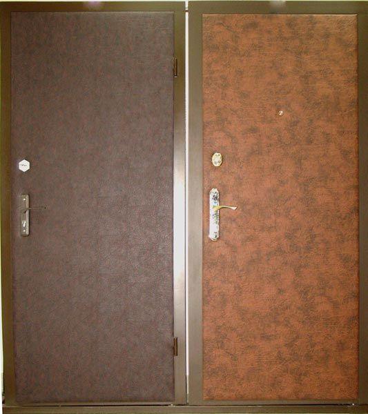 входная дверь с винилискожей