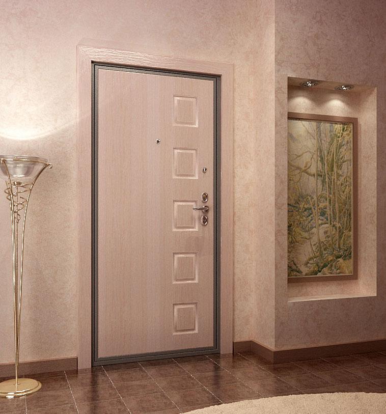 Входная дверь светлая в интерьере фото
