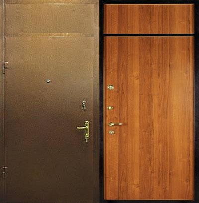 железная дверь с вставкой в москве