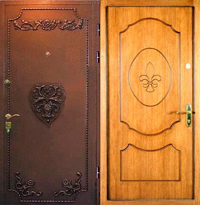 металлические двери лев