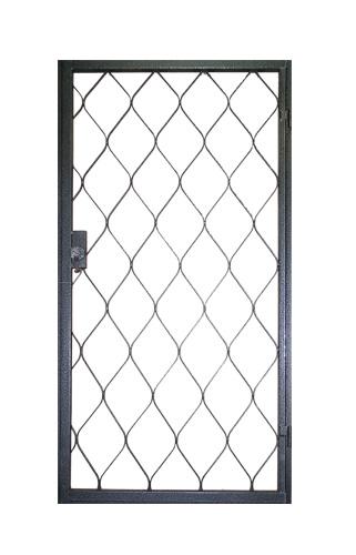купить железную дверь с решеткой